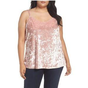 Sejour Velvet Camisole 1X Nordstrom Top NWT Pink